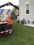 Drywall unloading for basement